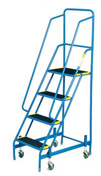 Fort Mobile Steps - Anti-Slip Treads - 4 Step With Full Handrail