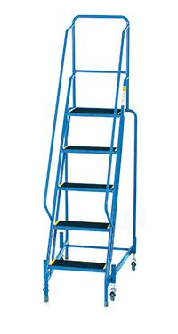 Fort Mobile Steps - Anti-Slip Treads - 5 Step With Full Handrail