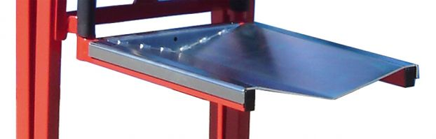 Optional V-platform attachment for Manual Winch Lifter