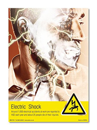 A4 Electric Shock Poster
