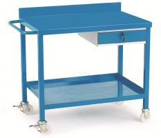 Mobile Work Bench C/W Single Drawer - Plywood Top