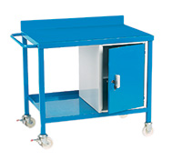 Mobile Work Bench C/W Cupboard - Plywood Top