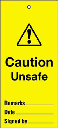 110x50mm Caution unsafe Maintenance Safety Tag