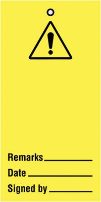 110x50mm Warning blank Maintenance Safety Tag