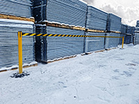 Weatherproof barriers - Messaged - 3400mm Belt Length