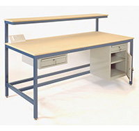 MDF Top Medium Duty Steel Assembly Bench 840mm x 2000mm x 900mm