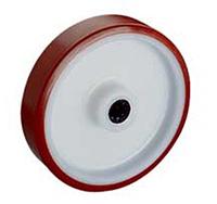 200mm Polyurethane Tyred / Nylon Centre Wheel