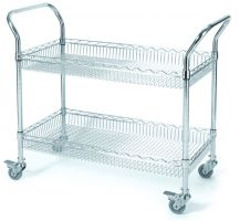 Chrome Wire Basket Trolley