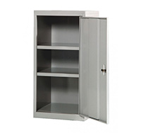 Single Door Steel Tool Cabinet with Two Fixed Shelves