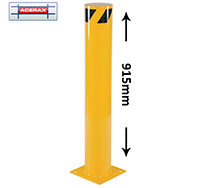 Yellow Safety Bollard