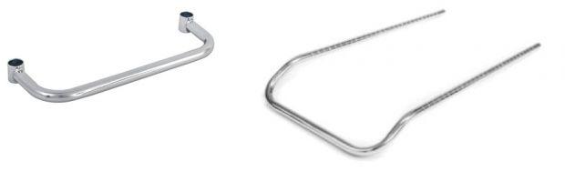 Chrome Wire Cart Handles
