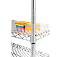 Acrylic Shelving covers for Chrome Wire Shelving