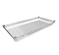 Basket Shelf for Chrome Wire Shelving