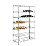 7 Level Medium Height Chrome Wire Wine Rack