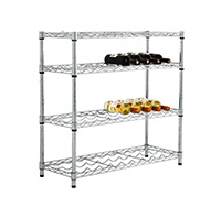 4 level Low Height Chrome Wire Wine Rack