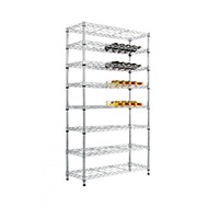 8 level Chrome Shelving Wine Rack