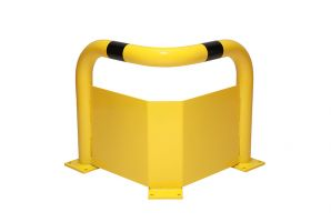Corner Protection Guards - 76mm Dia Tube c/w Under-run
