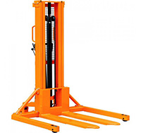 1000kg 1600mm Manual Stacker with Straddle Legs for Closed Pallets