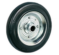 160mm Rubber Tyred Wheel with Roller Bearing