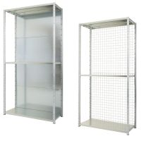 Expo 3 Galvanised Shelving - Rear Cladding Options