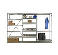 Expo 3 Galvanised Shelving 6 shelf Starter Bay