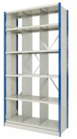 Expo 4 Fixed Height Divider Bay - 6 Shelves - c/w Dividers