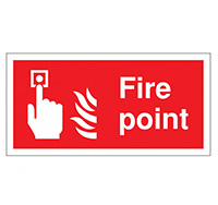200mm x 400mm Fire Point  Self Adhesive or Rigid Plastic