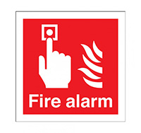 200mm x 200mm Fire Alarm Sign  Self Adhesive Vinyl