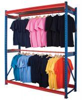 Longspan Garment Racking - Centre Rail