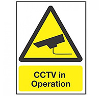 Large CCTV in operation 400 x 300 Sign