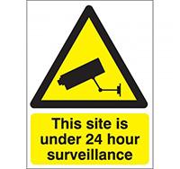 Large 24 Hour Surveillance 400 x 300 Sign
