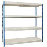 Heavy Rivet Shelving c/w Melamine Shelves
