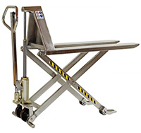 1150mm x 540mm 1000kg Stainless Steel High Lift Hand Pallet Truck