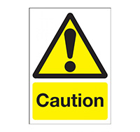 A4 Caution Sign  Self Adhesive Vinyl