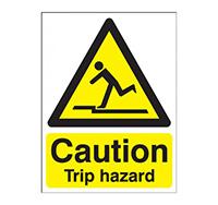 400mm x 300mm Caution Trip Hazard Sign  Self Adhesive Vinyl
