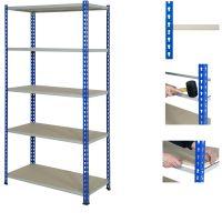 J Rivet Shelving     4 or 5 Levels c/w Chipboard Decks