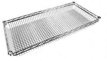Chrome Wire Lipped Shelf