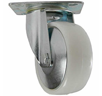 50mm Top Plate Swivel Castor - White Polyproplene