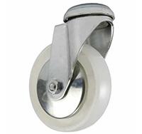 75mm Bolt Hole Swivel Castor - White Polyproplene