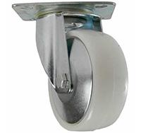 125mm Top Plate Swivel Castor - White Polyproplene