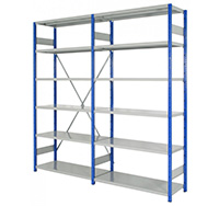 Expo 4 Heavy Duty Boltless Shelving System Starter Bay