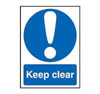 300mm x 250mm Keep Clear Sign  Rigid Plastic