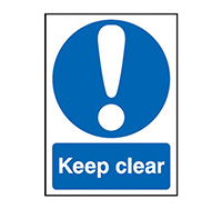 300mm x 250mm Keep Clear Sign  Self Adhesive Vinyl