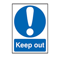 A4 Keep Out  Self Adhesive Vinyl