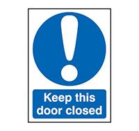 A4 Keep This Door Closed  Rigid Plastic