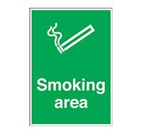 A4 Smoking Area Sign  Rigid Plastic