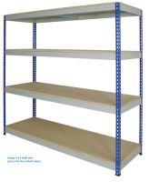 1830mm Wide Medium Rivet Shelving - 3 Shelves