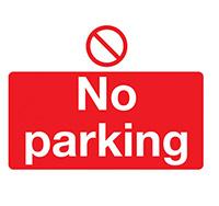 300mm x 500mm No Parking  Self Adhesive or Rigid Plastic