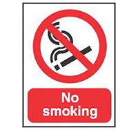 210mm x 148mm No Smoking Sign  Self Adhesive or Rigid Plastic