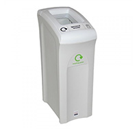 82 litre Midi Envirobin - Open Aperture  Grey/White  with Green Lid